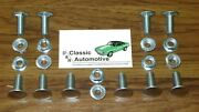 Camaro 67 Bumper Bolts 20pc Kit W/ Nuts Front Rear In Stock Stainless Cap Bolt