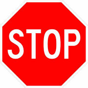Stop Sign Street Road Sign 18 X 18. A Real Sign. 10 Year 3m Warranty