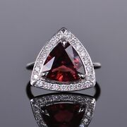Rubellite And Diamond Halo Cocktail Or Right Hand Ring In White Gold