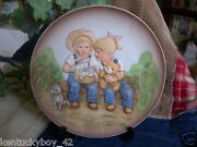 Home Interiors Homco Denim Days A Sunny Day Plate W/easel W/tag 1505