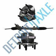 3 Pc Set Power Steering Rack And Pinion + 2 Wheel Hub Bearing Assembly W/o Abs