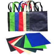 100 Lot Plain Reusable Grocery Shopping Totes Bag Bags Recycled Wholesale Bulk