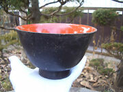 Japane Antique Bowl Wooden So Old No Wash With Dust 1317