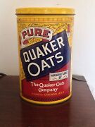 Vintage Ltd. Edition 1984 Quaker Oats Co. Rolled White Oats Tin Advertising Nice