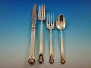 Castle Rose By Royal Crest Sterling Silver Grille Size Place Settings 4pc