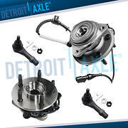 New Front Driver And Passenger Wheel Hub And Bearing 4wd W/ Abs + 2 Tie Rod