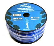8 Ga Blue Power Wire Primary Ground 250ft Copper Mix Cable Car Audio Amplifier