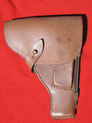 Wwii Russian Tt Pistol Brown Leather Holster With Cleaning Rod. Ddr Reparation.
