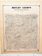 Old Motley County Texas General Land Office Owner Map Matador Goodnight Cattle