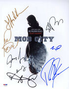Cast Multi Signed 11x14 Photo Mob City + 8 Full Letter Psa/dna Autographed