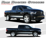 Rocker Panel Strobe Stripes 3m Vinyl Graphic Decals 2009-2018 For Dodge Ram