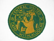 Camp Withlacooche Fl 1957 Jim Felt Patch Central United Uk Boy Scouts