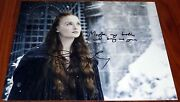 Cool Sophie Turner Signed 11x14 Sansa Stark Game Of Thrones W/quote Exact Proof