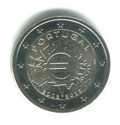 Portugal 2012 - 2 Euro Comm - 10th Anniversary Intro Of Euro Coins And Notes Unc