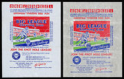 1934 Goudey Big League Chewing Gum Baseball Wrappers - 2 Different Varieties