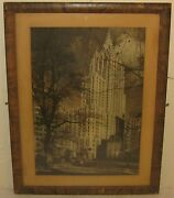 Orginal 1929 Irving Browning And039new York Lifeand039 Skyscraper Photo -city Architecture