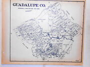 Old Guadalupe County Texas Land Office Owner Map Seguin Cibolo New Braunfels