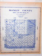 Old Hockley County Texas Land Office Owner Map Levelland Anton Pep Sundown Smyer