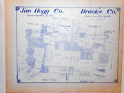 Old Jim Hogg And Brooks County Texas General Land Office Owner Map Hebbronville 2