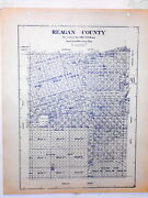Old Reagan County Texas Land Office Owner Map Big Lake Best Stiles Texon