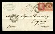 Gb Qv 1864 Royal Hotel De Keyser Sg81 4d + Penny Red Plate 85 Paying Late Fee