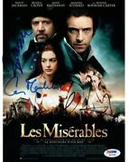 Les Miserables 3 Signed Authentic 8x10 Photo Crowe/hathaway Psa/dna W07088
