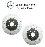 For Mercedes R172 W204 C63 Amg W211 W212 Pair Set Of Front Brake Disc Genuine