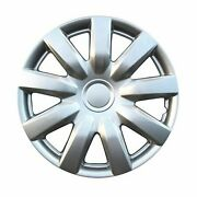 Kt Abs Plastic Aftermarket Wheel Cover 15 Silver 4 Piece Kt985-15sl