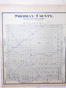 Sherman County Texas Land Office Owner Map Stratford Texhoma Coldwater Stevens