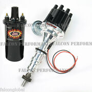 Pertronix Ignitor Ii/2 Billet Flame-thrower Distributor+coil Ford Fe 332 352 428