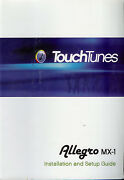 Rare Factory Touch Tunes Allegro Mx-1 Owner's Installation Set Up Manual Guide