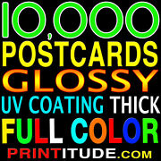 10000 Postcards 4x9 Full Color Uv Glossy 4x9 Professional Printing And Design