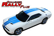 2018 2017 2016 2015 For Challenger Rally+ Racing Stripes Graphic Hood Decals