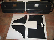 New 6 Piece Interior Panel Set With Door Panels For Mgb Gt 1970-75 Black Made Uk