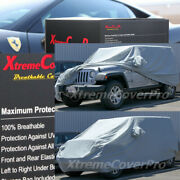 2015 Jeep Wrangler Unlimited Breathable Car Cover W/mirror Pockets - Gray