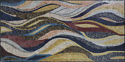 Modern Waves Wind Gentle Autumn Sea Marble Mosaic Cr1145