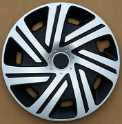 Black Gloss 15 Wheel Trims To Fit Vw Caddy