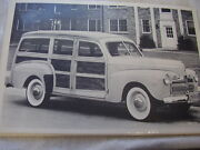 1942 Ford Station Wagon Woody 12 X 18 Large Picture Photo