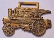 The Russell And Company Engine Tractor Farm Pocket Watch Fob Massillon Boss Bull