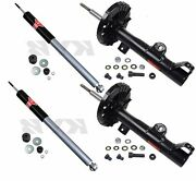 4-kyb Excel-gandreg Strut/shocks Front And Rear Mercedes-benz W203 C-class