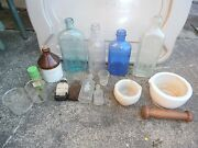 Vintage Medical Apothecary Glass Lot
