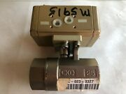 New Old Ckd 25 Pneumatic Actuated Shut-off Ball Valve, 1 Npt,cm