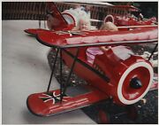 Vintage 80s Photo Little Girls On Red Baron Ride At Camp Snoopy Knottand039s Farm