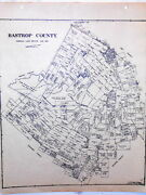 Old Bastrop County Texas Land Office Owner Map Elgin Smithville Mcdade Austin