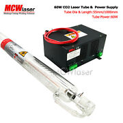 Mcwlaser 60w Co2 Laser Tube 100cm And Power Supply 110/220 Air Express And Insurance