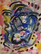 Original Signed William Verdult Abstract Painting Listed Dutch-american Artist