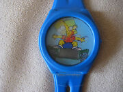 The Simpsons Bart Skateboarding Digital Watch Blue Changes When You Move It