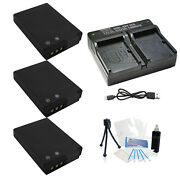 3 X En-el12 Replacement Battery And Usb Dual Charger For Nikon Aw100 P300 330 S31