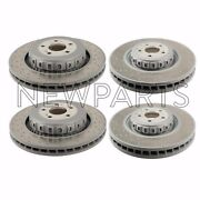 For Mercedes C216 R231 Set Of Front And Rear Vented Cross Drilled Brake Rotors Oem