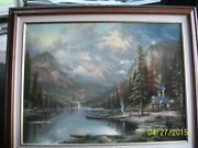 Thomas Kinkade Beginning Of A Perfect Day Iii - Limited Edition 25 1/2 X 34 S/n